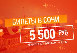 Билеты в Сочи из Оренбурга